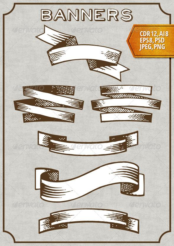 GraphicRiver Retro Banners 7386102