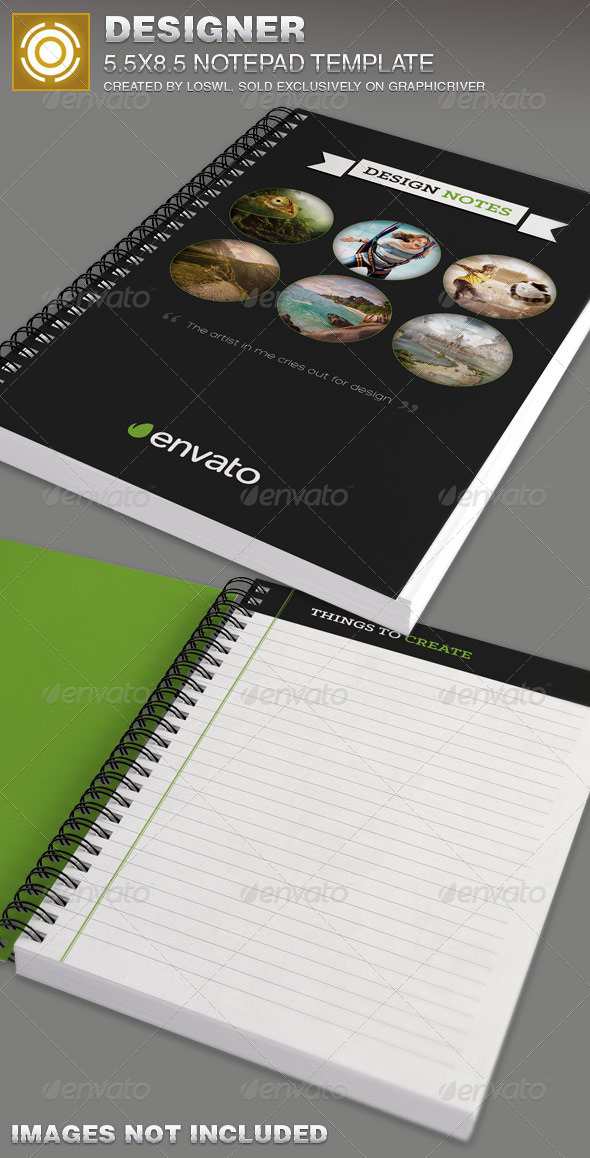 GraphicRiver Designer Notepad Template 7376726