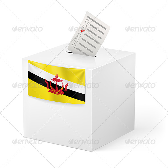 GraphicRiver Ballot Box with Voting Paper Brunei 7386223