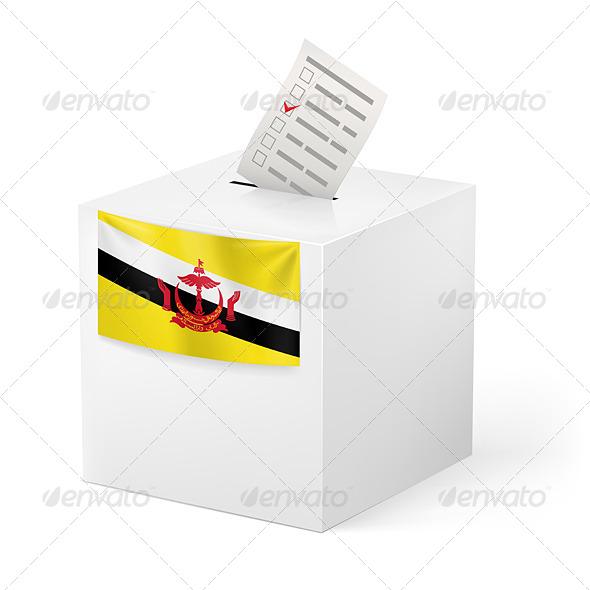 GraphicRiver Ballot Box with Voting Paper Brunei 7386223