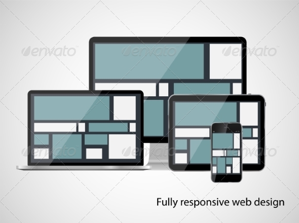 GraphicRiver Fully Responsive Web Design Concept Vector Illustration 7386330