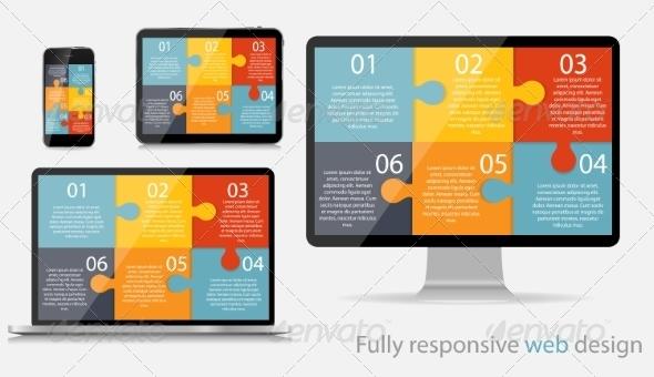 GraphicRiver Fully Responsive Web Design Concept Vector Illustration 7386332