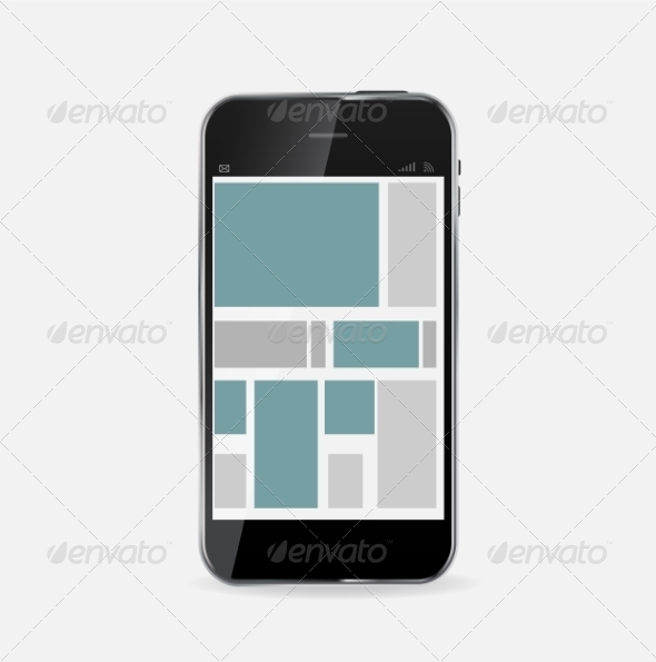 GraphicRiver Abstract Design Mobile Phone Vector Illustration 7386338