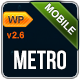 Metro Mobile Premium Wordpress Mobile Template - ThemeForest Item for Sale