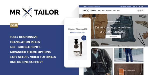 ThemeForest Mr Tailor Retina Responsive WooCommerce Theme 7292110