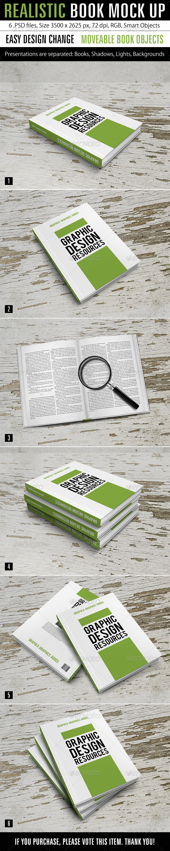 GraphicRiver Realistic Book Mock Up 7376884