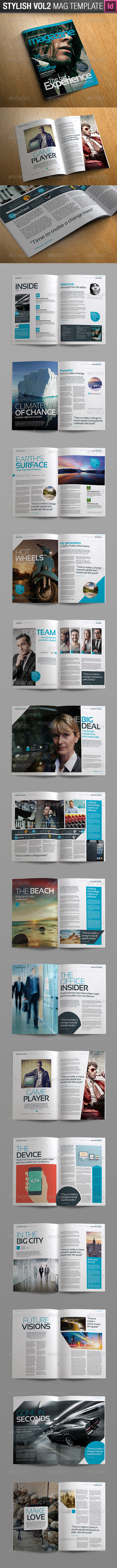 GraphicRiver Stylish Volume 2 InDesign Magazine Template 7292870