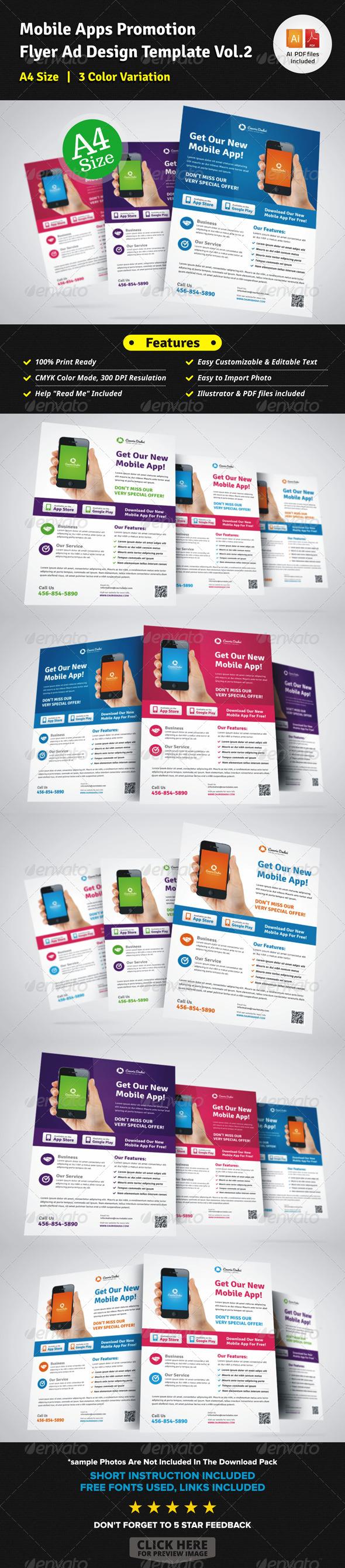 GraphicRiver Mobile Apps Promotion Flyer Ad Design Vol 2 7386768