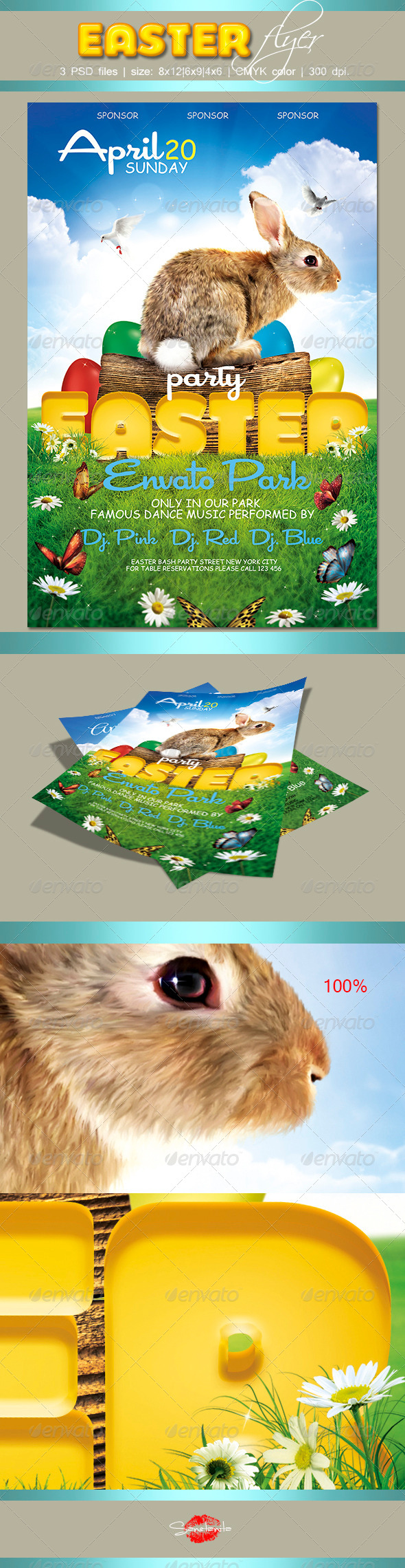 GraphicRiver Easter Flyer 2 7349771