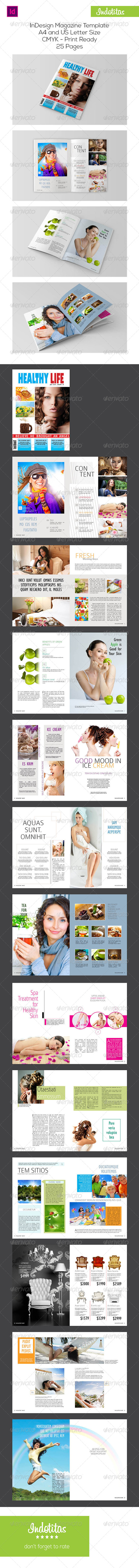 GraphicRiver Healthy Life Magazine Template 7367322