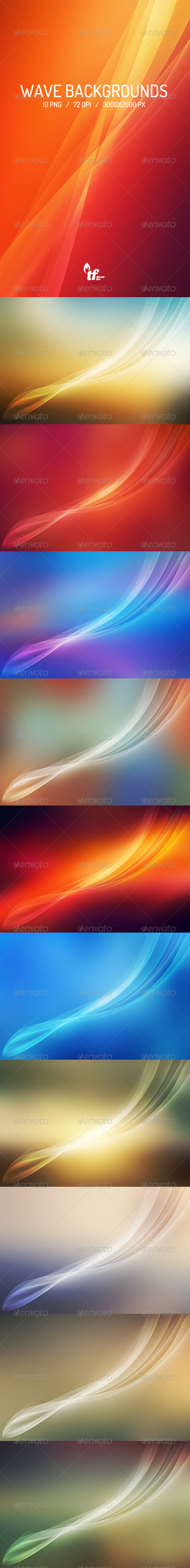 GraphicRiver Light Wave Backgrounds 7386957