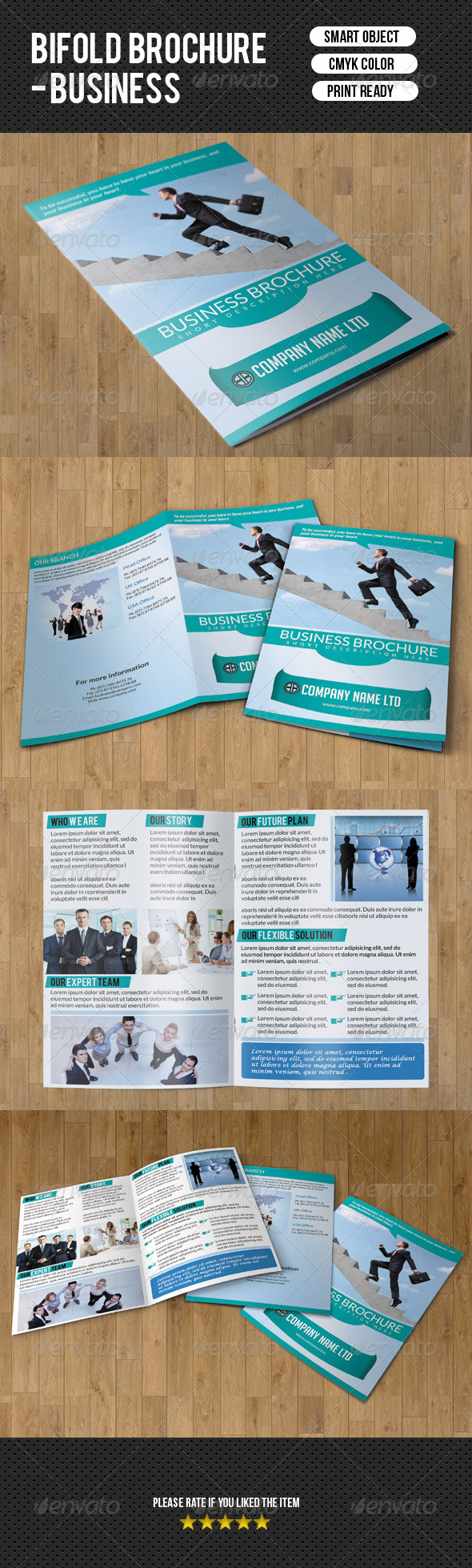GraphicRiver Bifold Business Brochure 7389021