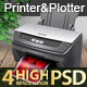 Realistic Printer Mockup Version 2.0 - GraphicRiver Item for Sale