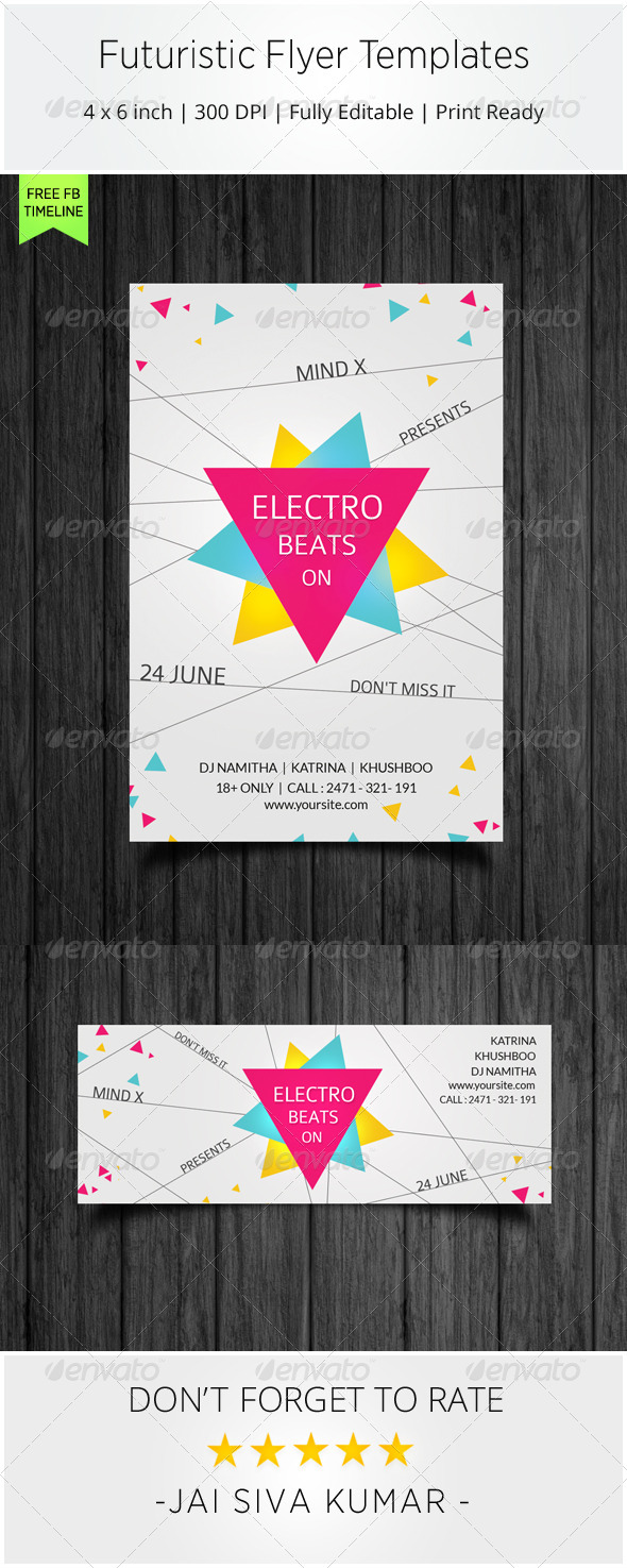 GraphicRiver Futuristic Flyer Templates 7372567