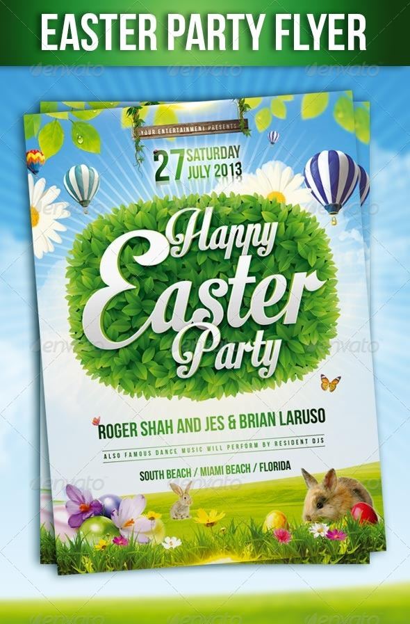 GraphicRiver Easter Party Flyer 7389556