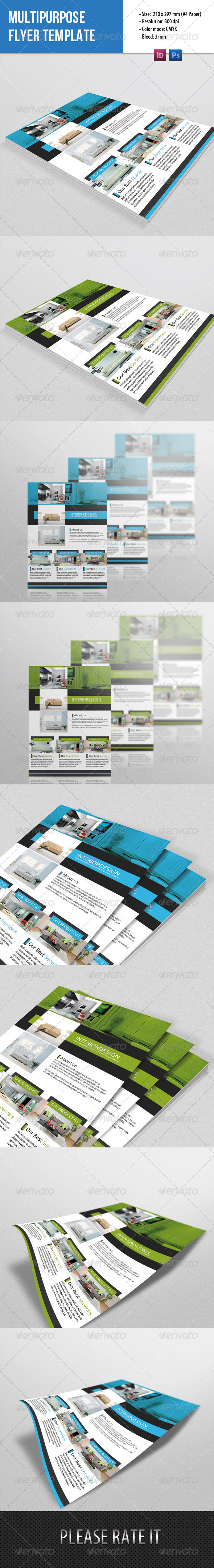 GraphicRiver Mulipurpouse Flyer Template 7389569