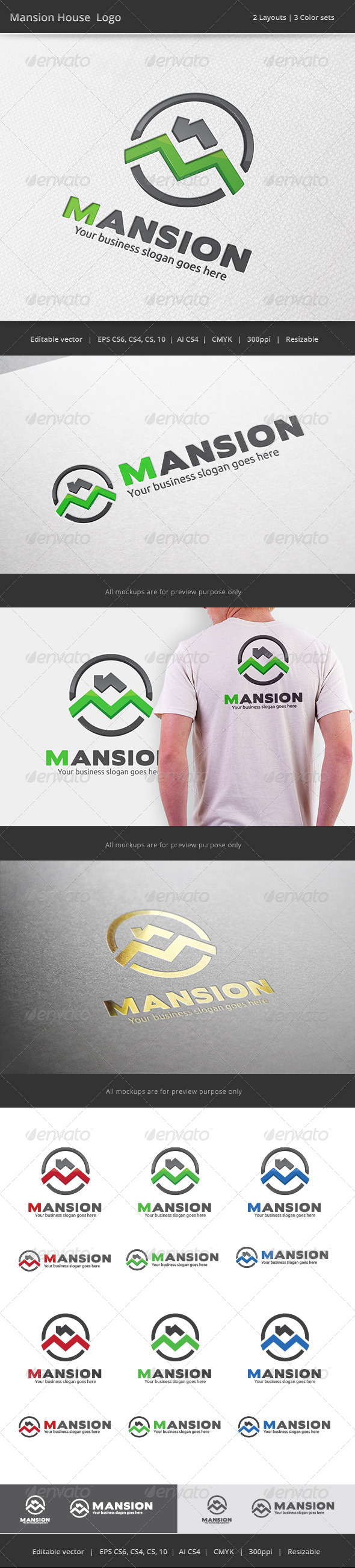 GraphicRiver Mansion House Logo 7389620