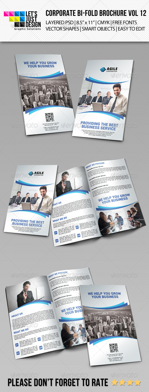 GraphicRiver Creative Corporate Bi-Fold Brochure Vol 12 7389869
