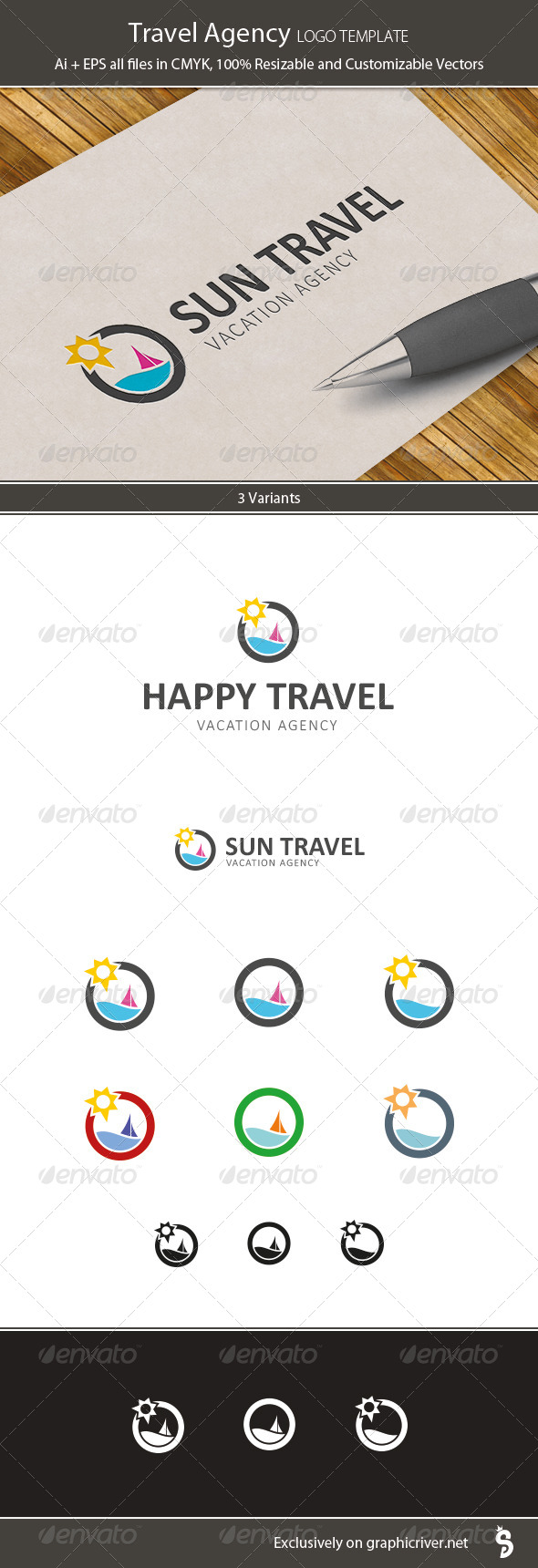 GraphicRiver Travel Agency Logo Template 7390287