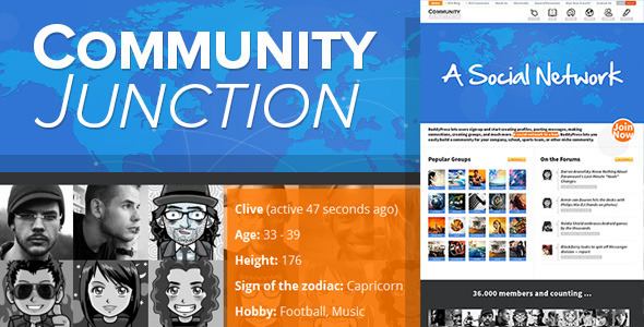 ThemeForest CommunityJunction BuddyPress Theme 7298510