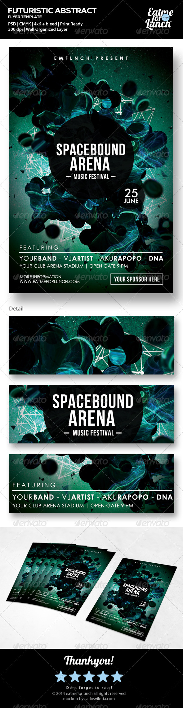 GraphicRiver Futuristic Abstract Flyer Template Spacebound 7390528