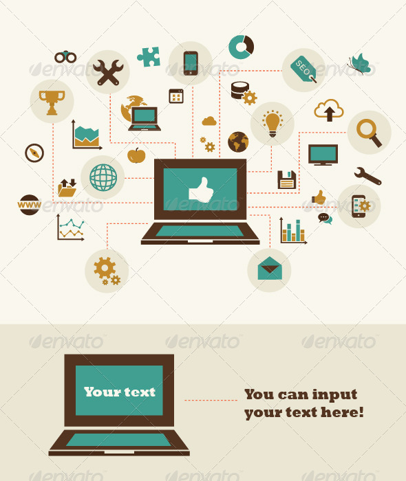 GraphicRiver Flat Concept of Business 7390973