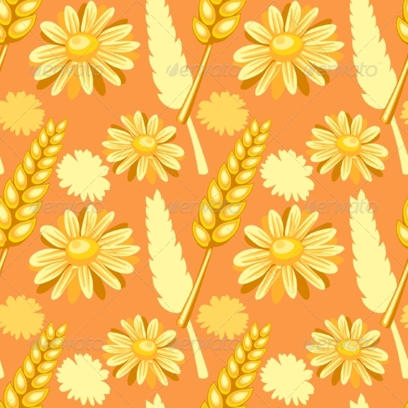 GraphicRiver Summer Field Seamless Pattern 7391039