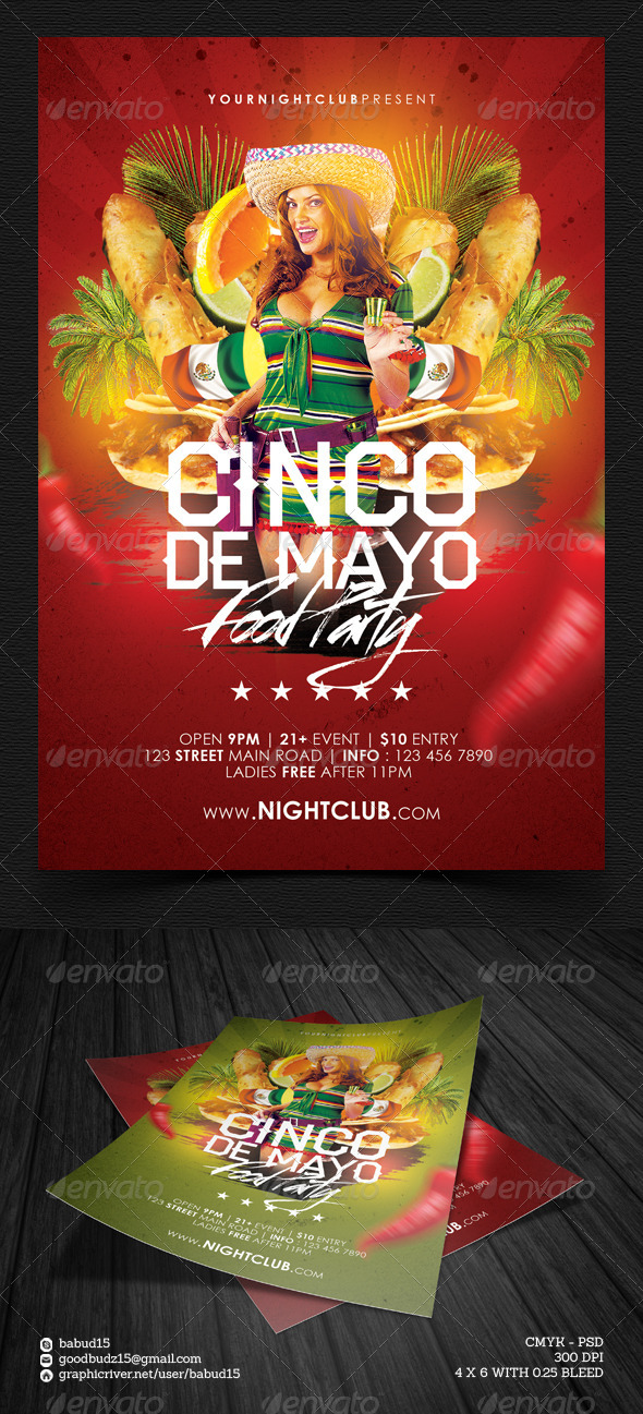 GraphicRiver Cinco de Mayo Food Party 7391436