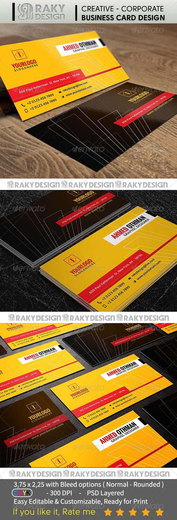 GraphicRiver Corporate Business Card V04 7391463