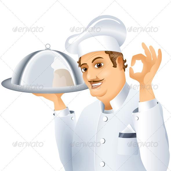 GraphicRiver Chef Tray Dish 7392560