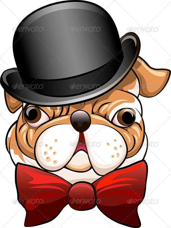 GraphicRiver Bulldog in a Bowler Hat 7392578