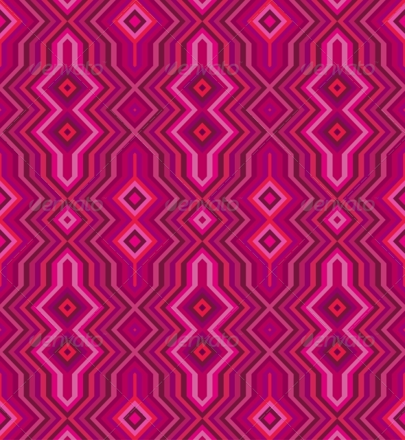 GraphicRiver Color Abstract Retro Zigzag Vector Background 7392869