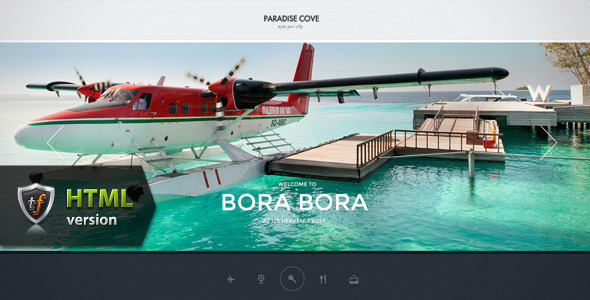 ThemeForest Paradise Cove Hotel HTML Theme 7392909