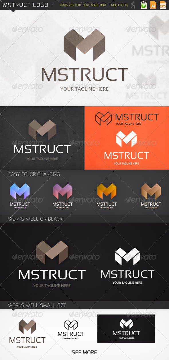 GraphicRiver Mstruct Logo 7393028