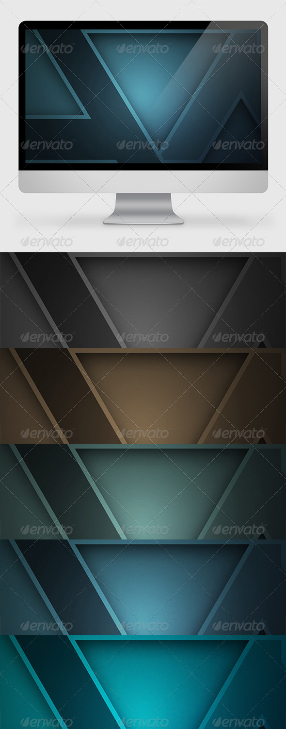 GraphicRiver Abstract Triangle Background Wallpaper 7393144