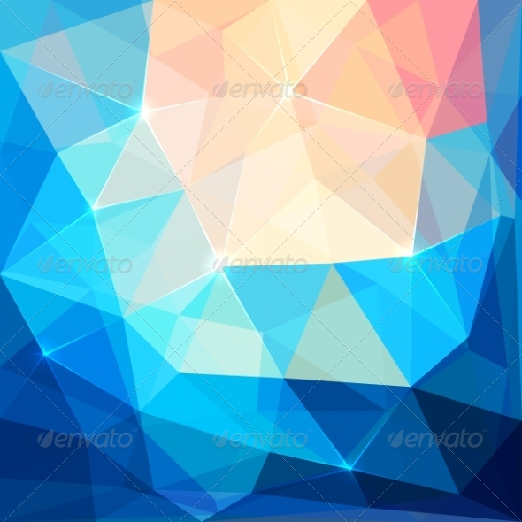 GraphicRiver Abstract Colorful Triangles Vector Background 7393487