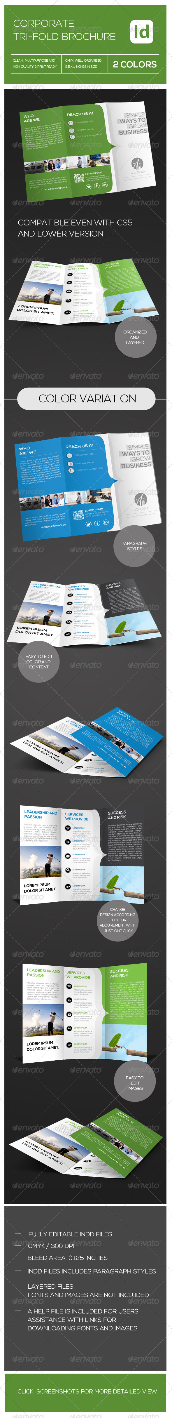 GraphicRiver Multipupose Corporate Tri-fold Brochure 7393589