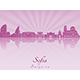 Sofia Skyline in Purple Radiant Orchid - GraphicRiver Item for Sale