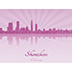 Shenzhen Skyline in Purple Radiant Orchid - GraphicRiver Item for Sale