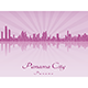 Panama City Skyline in Purple Radiant Orchid - GraphicRiver Item for Sale