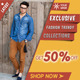 Exclusive Fashion Clothing Ads - GraphicRiver Item for Sale