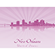 New Orleans Skyline in Purple Radiant Orchid - GraphicRiver Item for Sale