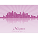 Houston Skyline in Purple Radiant Orchid - GraphicRiver Item for Sale