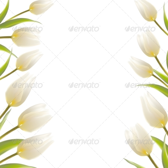 GraphicRiver Tulip Spring Flowers Bouquet for your Card Design 7394545