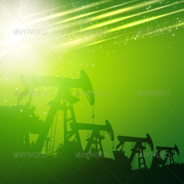 GraphicRiver Green Oil Pump 7394593