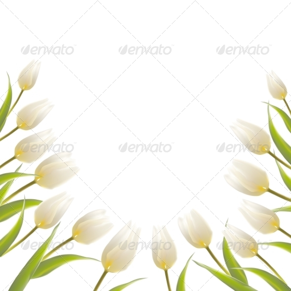 GraphicRiver Tulip Spring Flowers Bouquet for your Card Design 7394645
