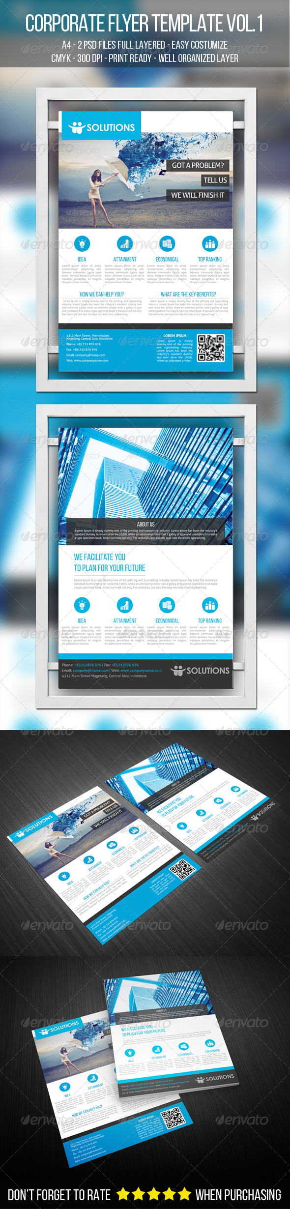 GraphicRiver A4 Corporate Flyer Template VOL.1 7395553