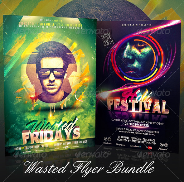 GraphicRiver Wasted Flyer Bundle 7395976