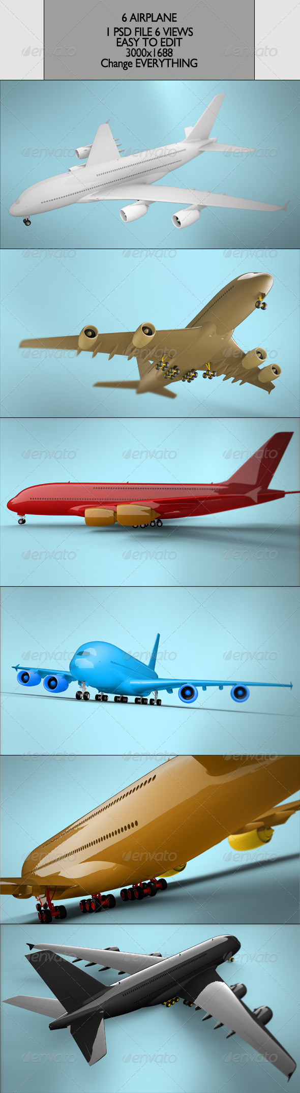 GraphicRiver Aiplane 6 views 7396037