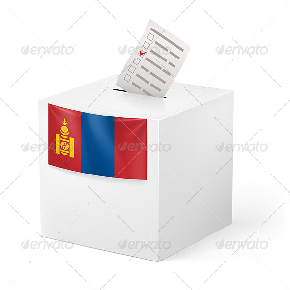 GraphicRiver Ballot box with Voting Paper Mongolia 7396283
